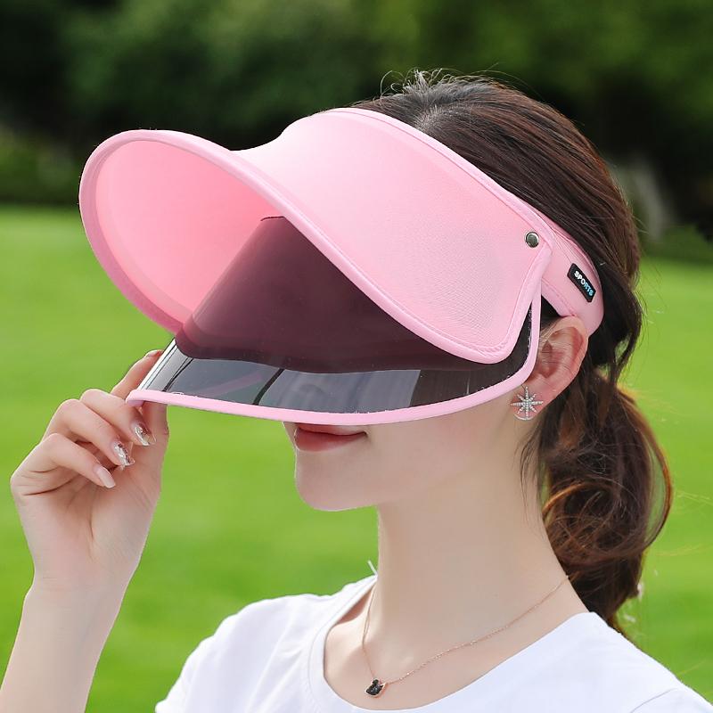 防晒面罩帽子女夏天防晒帽遮脸防紫外线遮阳帽骑车帽百搭太阳帽夏