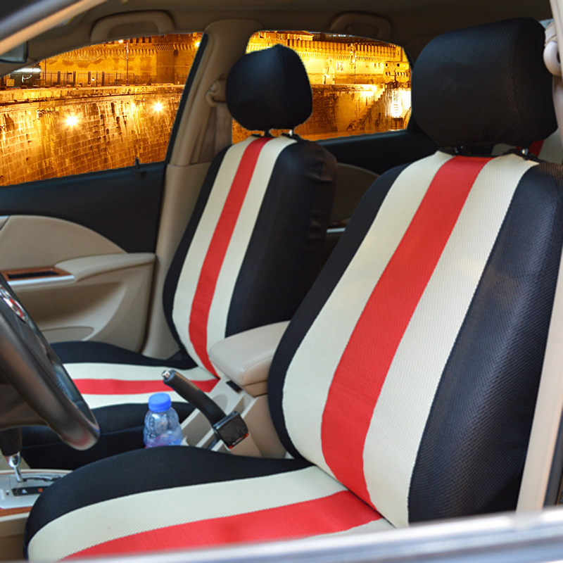 汽車坐墊四季 三明治座套全包卡通布藝可愛座椅套 座墊男女