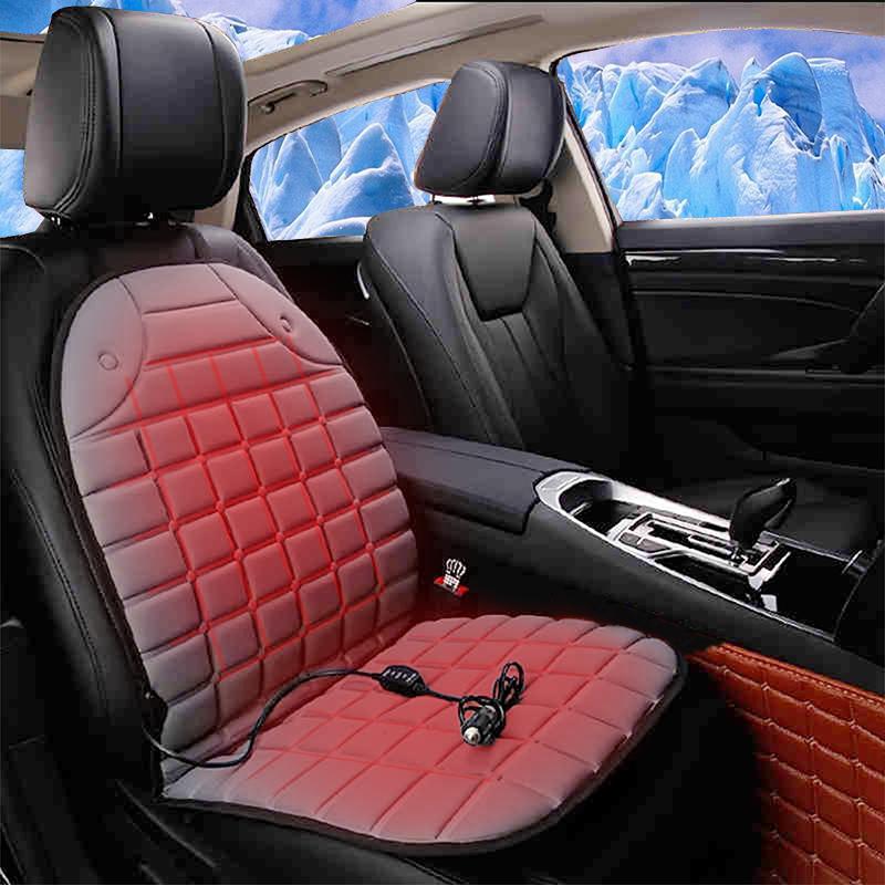 車誌酷汽車加熱坐墊 款車墊車載 座椅電加熱座墊 12V車用