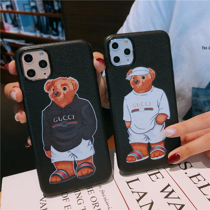 欧美奢华苹果11手机壳7p/8plus插口袋小熊iphonexsmax超薄11promax创意6p磨砂xr硅胶软6s潮牌网红明星XS男女