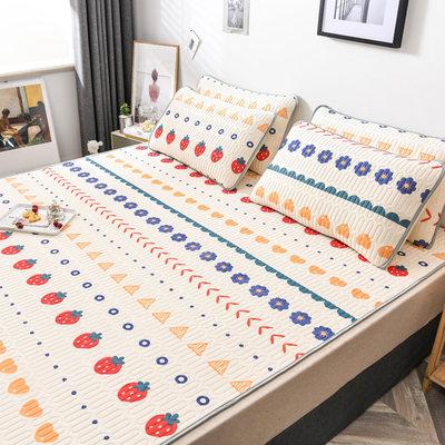 泰国乳胶凉席1.8m床三件套夏季可水洗折叠冰丝席子1.2.0米1.5夏天