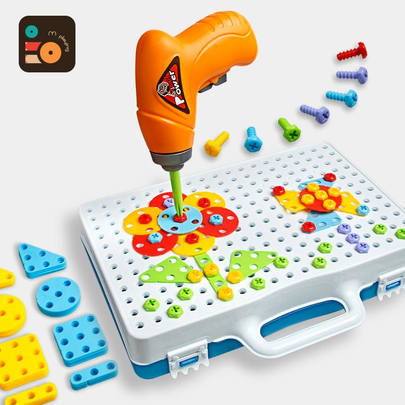 Ребенок начните работу разборка твист винт головоломка инструментарий дрель игрушка головоломки мальчик разборка собранный сочетание строительные блоки