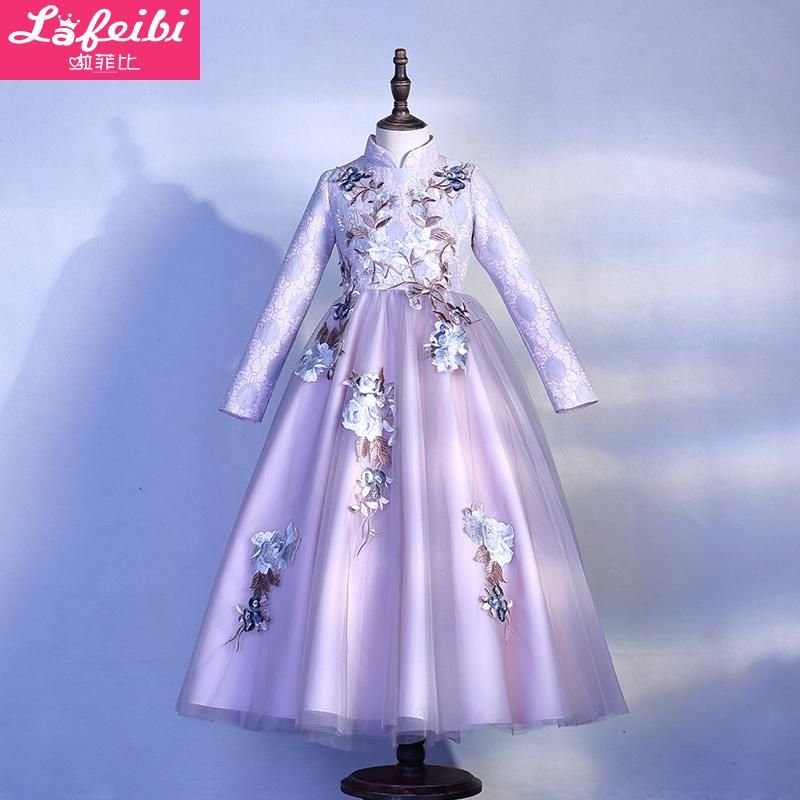假一赔十女童连衣裙长袖儿童秋装旗袍公主裙