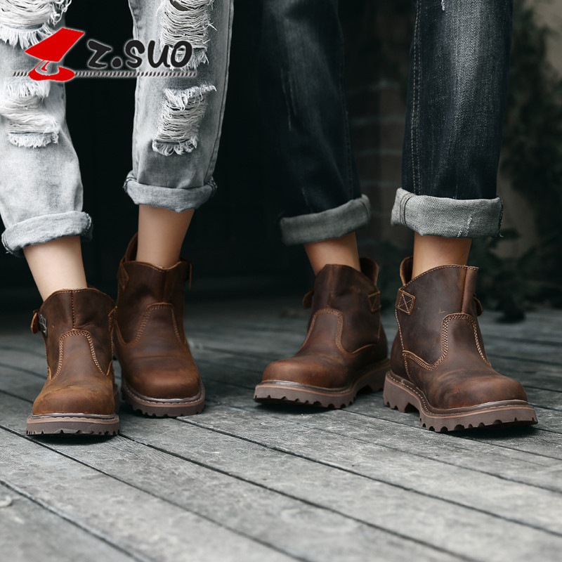 Mens shoes, Martin boots, mens fashion, all kinds of Korean version, Chinese helper shoes, breathable British style, retro outdoor big shoes