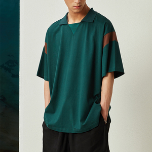 OPICLOTH(OPIC)19SS LOOSE POLO 90s撞色廓形POLO领短袖