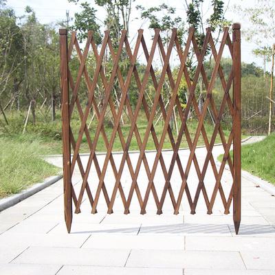 爬藤花架伸缩防腐木栅栏户外庭院草坪篱笆护栏幼儿园室外装饰围栏