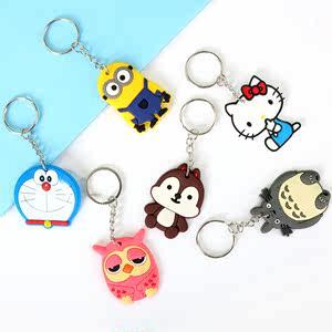 创意卡通可爱动物硅胶汽车钥匙扣 情侣款钥匙链学生钥匙圈挂件扣