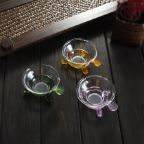 Transparent glass tea leaking tea ceremony Funnel Kung Fu Tea Set Accessories tea Filter Tea tea filter teapot rack