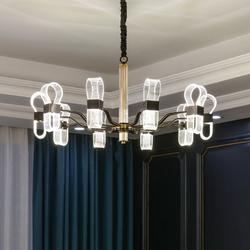 世冠 新款客厅吊灯后现代简约创意全铜灯三色变光led餐厅轻奢灯具