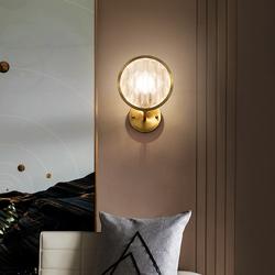 世冠 轻奢全铜壁灯美式简约客厅卧室床头灯工业风北欧过道墙壁灯