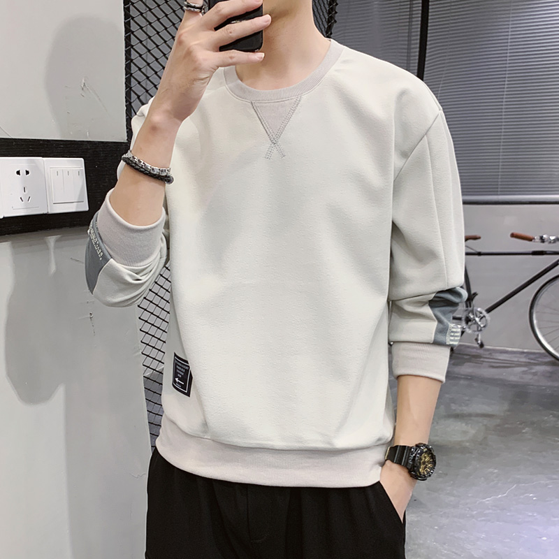 Long sleeve t-shirt men's 2020 new spring and autumn trend bottom coat autumn clothes T-shirt upper clothes loose sweater men
