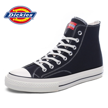 Dickies men's shoes spring Korean high-top lovers canvas shoes men's casual shoes trend wild black