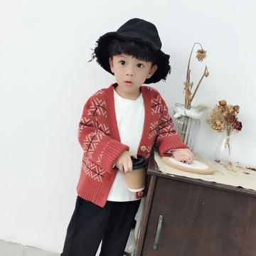 男童毛衣开衫外套2018新款韩版春秋季宝宝针织衫小童1休闲3潮5岁7