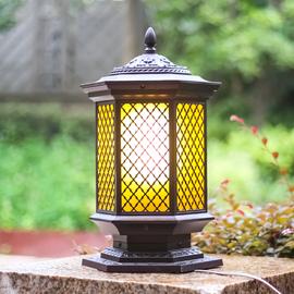 防水柱头灯门柱灯端景台灯室外灯门头灯饰花园别墅户外灯庭院灯