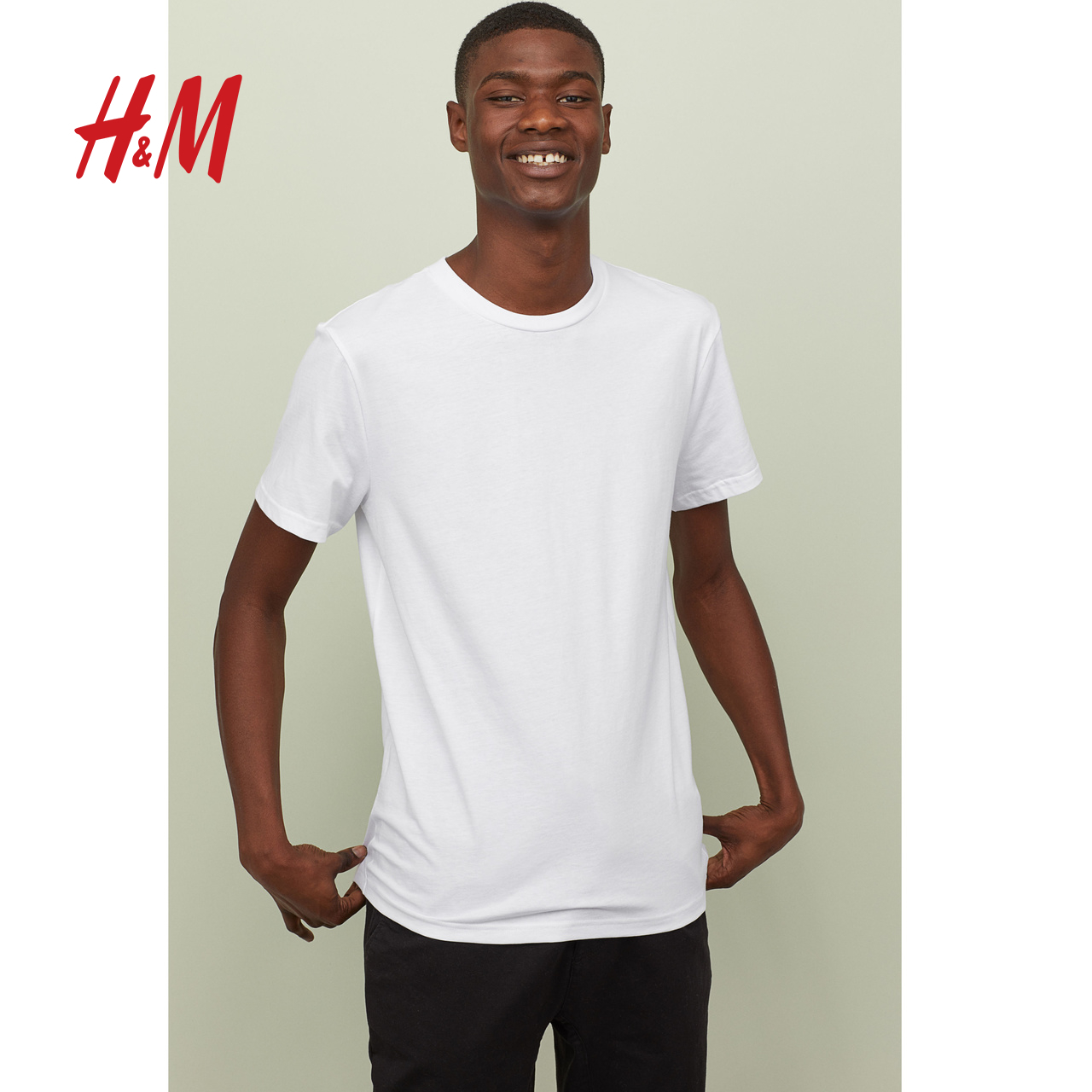 H&M HM DIVIDED男装新款纯色短袖T恤 男士夏季潮牌潮流HM0685836.50元包邮