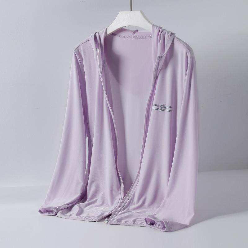 冰丝防晒衣女短款2021夏季新款户外防紫外线透气长袖弹力薄外套潮