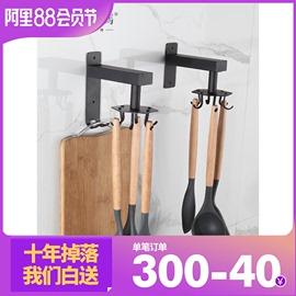 免打孔厨房墙壁收纳架置物架旋转挂钩锅铲勺子厨具用品壁挂式神器图片