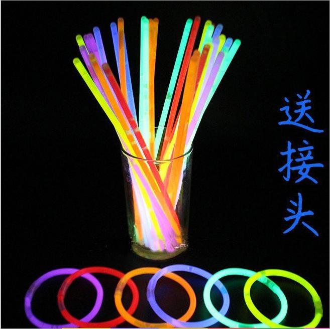荧光棒 聚会晚会活动年会一次性七彩发光银光棒夜光棒100支