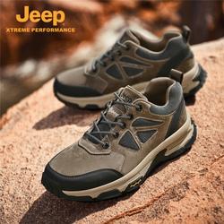Jeep吉普登山鞋男秋季透气耐磨低帮野营旅游鞋中年爸爸父亲鞋子
