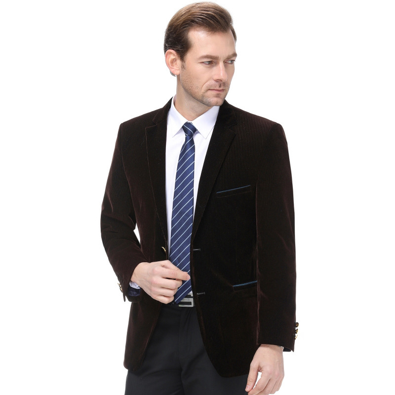 Mens suits are popular in autumn and winter, but they are still casual in autumn and winter. Middle aged wool single suit, fashionable mens striped coat, a double breasted coat