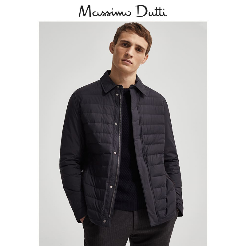 Massimo Dutti men's mall with light quality quilted down men's jacket 03405232401