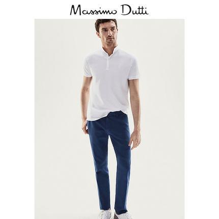 ¥160 MassimoDutti男装休闲款褶痕设计长裤00001031420