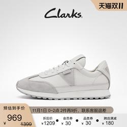 Clarks其乐女鞋2021秋冬新款阿甘鞋时尚复古百搭小白鞋华夫鞋女