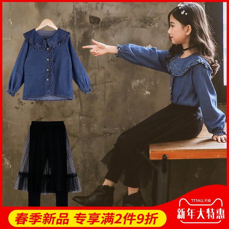女童春秋套装2019新款时髦两件套裙洋气韩版潮衣中大童装儿童春装