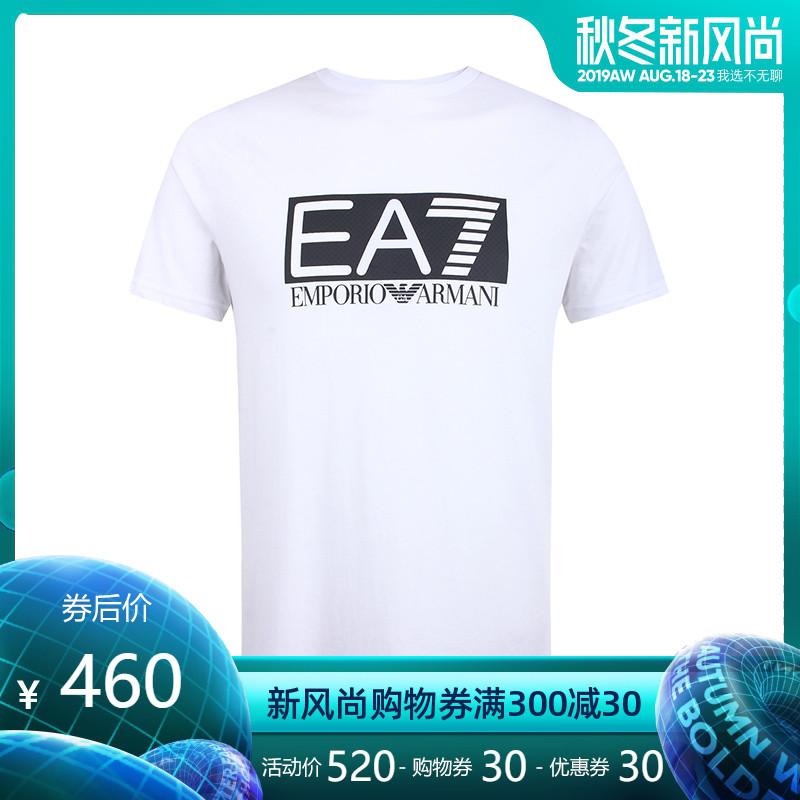 正品Emporio Armani/阿玛尼男装EA7纯棉印花图案男士短袖T恤SS