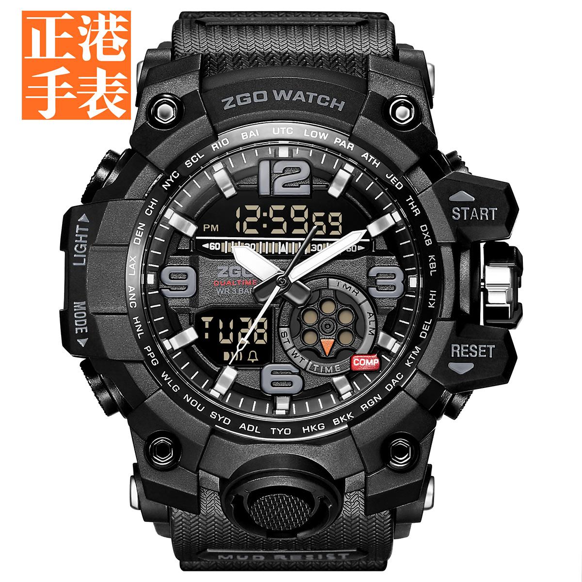 电子表男战狼2 多功能特种兵机械防水防摔战术军表运动中学生手表