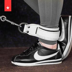 龙门架练臀腿部力量健身脚环牛皮扣