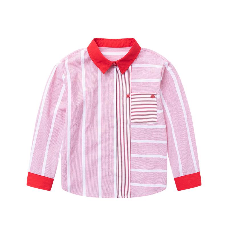 Capapp childrens wear girls long sleeved shirt childrens 2021 spring and autumn new long sleeved literary Stripe Shirt versatile trend