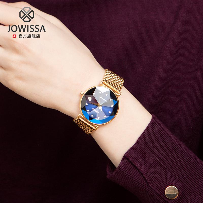 瑞士进口jowissa左薇莎品牌手表女士简约气质大表盘石英表防水潮