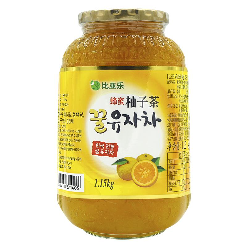 比亚乐蜂蜜柚子茶1.15kg罐装原装进口蜜炼柚子酱冲调饮品果汁饮料