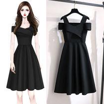2021新款大码女装胖妹妹时尚气质连衣裙女遮肚子显瘦收腰裙子女夏