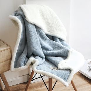 多功能懒人斗篷披肩毯女盖腿厚办公室午睡法兰绒珊瑚绒小毛毯 法式