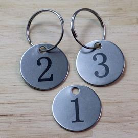 幼儿园水杯号码牌定制号牌数字挂牌金属标识编号牌数字挂牌标记牌