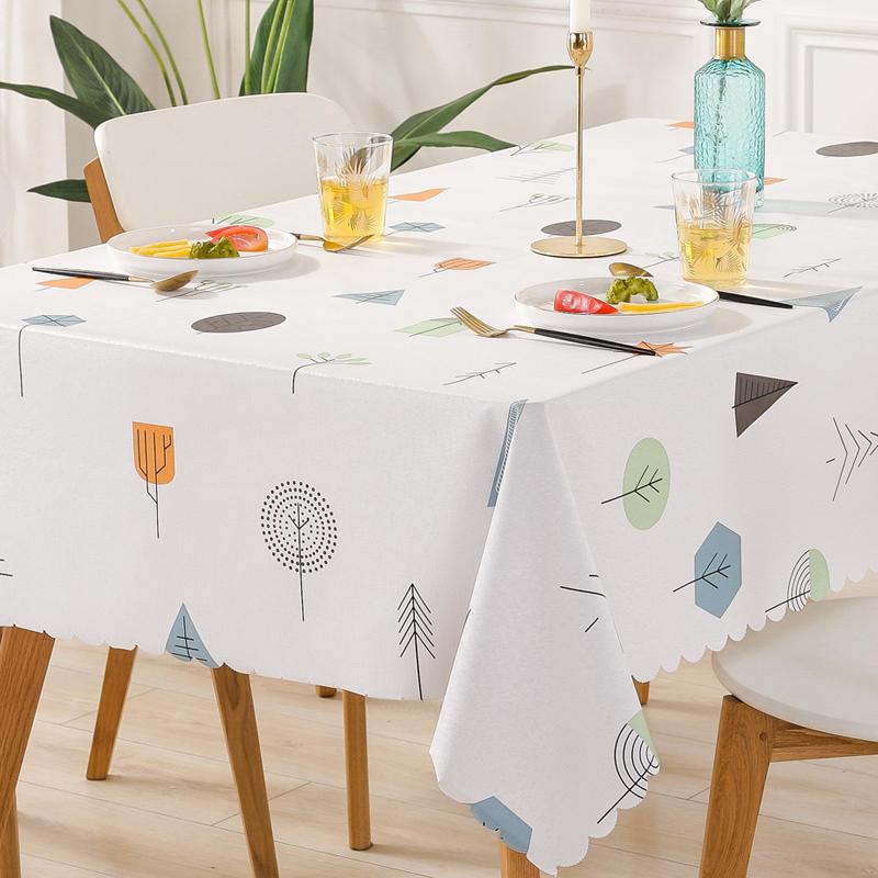 客厅餐桌布防水防烫防油免洗pvc茶几桌布北欧网红ins长方形台布垫