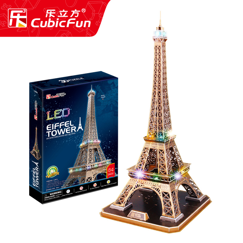 Le Cube Eiffel Tower stereoscopic puzzle large pendulum 3D architectural model assembly decoration simulation gift