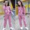童装女童2019秋装新款套装韩版纯棉t恤长袖女孩两件套春秋衣服潮