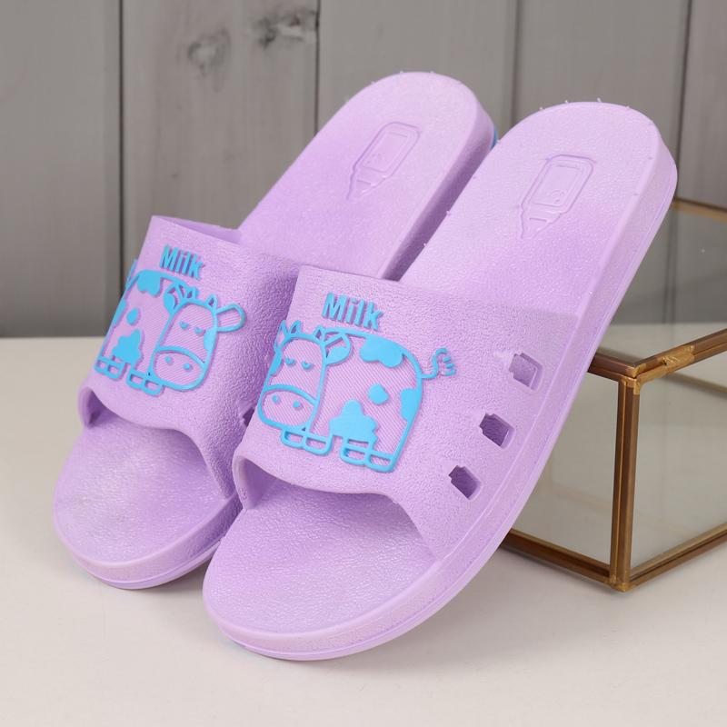 居家拖鞋女夏室內浴室厚底塑料卡通一家三口涼拖防滑軟底家居托鞋