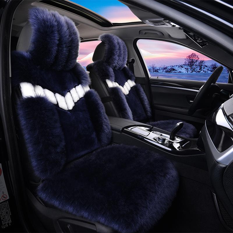 2018新款汽车纯羊毛坐垫长毛皮毛一体短毛绒冬季保暖座垫通用女士