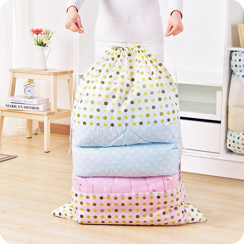 2357 cotton quilt storage bag non woven large dustproof belt window clothes quilt finishing bag luggage bag packing bag