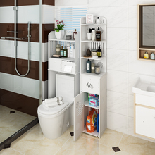 Bathroom shelf, non perforated, wall mounted, floor washing machine, toilet, waterproof side cabinet, toilet, toilet storage rack