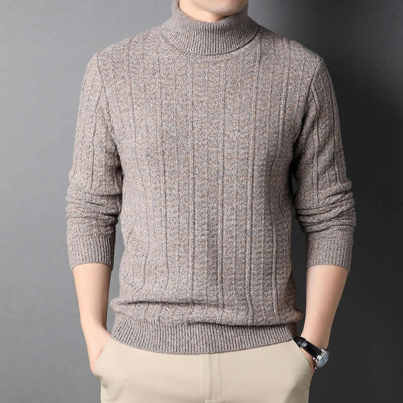 Counter brand autumn and winter new mens Pullover Sweater long sleeve knitted bottomed shirt mens sweater sweater 3