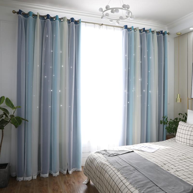 凯瑞丝时尚简约韩式星空竖条窗纱评价好不好?