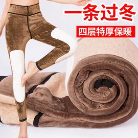 冬季棉裤女加绒加厚东北四层高腰护膝外穿打底学生紧身特厚保暖裤图片