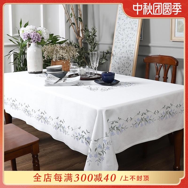 瑞典Ekelund北欧简约餐桌布浅色现代欧式全棉圆形台布茶几盖布艺