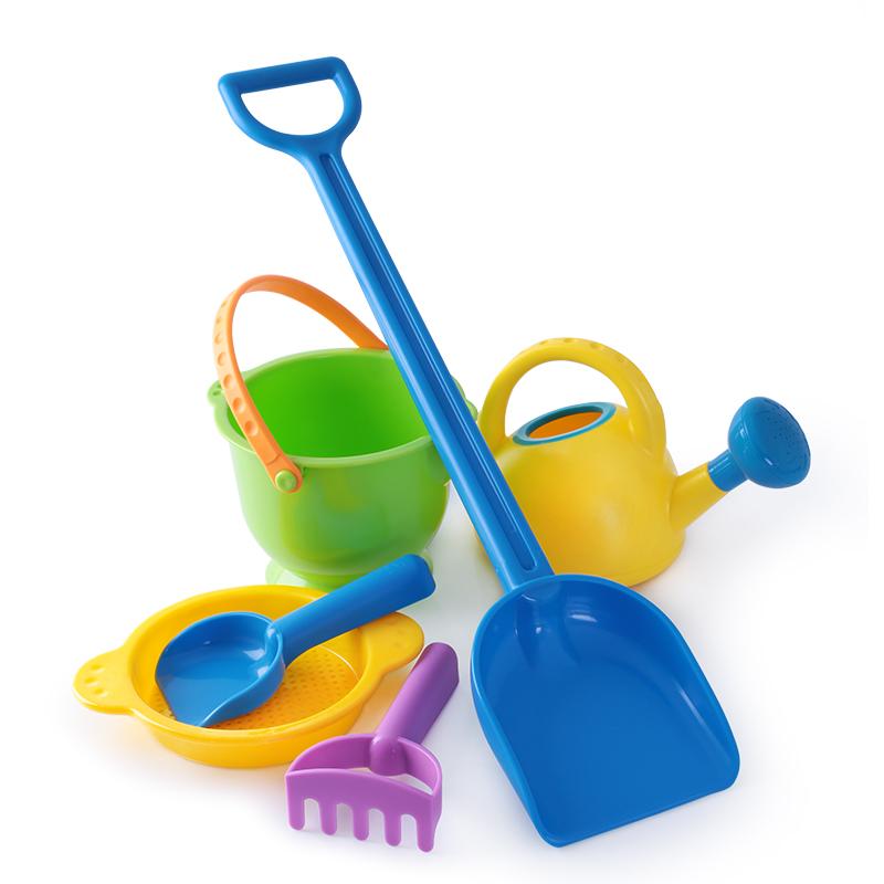 德國hape沙灘玩具兒童套裝寶寶鏟子決明子桶沙漏戲水工具大碼無毒