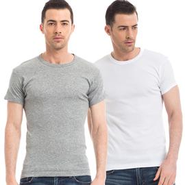 [2件装]三枪男短袖背心纯棉打底衫老头衫运动汗衫男棉T恤21097